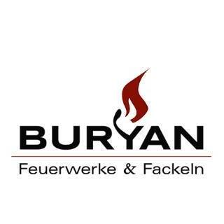 Buryan - Feuerwerk-Fackeln Logo